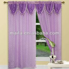 Beautiful Stye Jacquard Voile Black And Silver Curtains