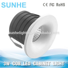 3W COB Cabinet Spot Light 350mA COB mini Led Cabinet Light Round Dongguan