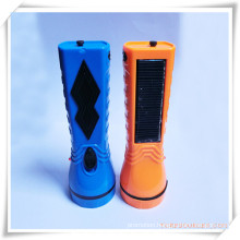 Durable Rechargeable Solar Energy and Charging Flashlight for Promotion