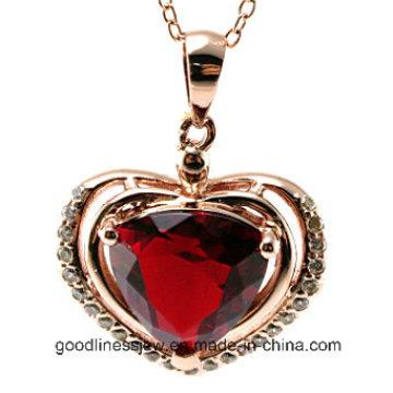 Boa Qualidade e Moda Jóias Pingente de Prata, Love Heart Pingente P4991