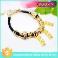 Nueva pulsera de amor de oro con piedras preciosas de joyería de cuerda envolvente para mujer