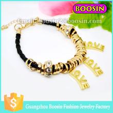 New Wrap Rope Jewelry Gemstone Gold Love Bracelet for Women