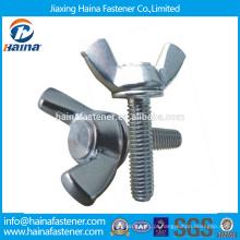 Em estoque Fornecedor chinês melhor preço DIN316 aço inoxidável asa parafuso de segurança com porca