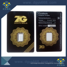 Tamper Proof Anti-Counterfeiting Coin Packing Card with Serials Number