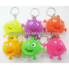 Flashing Yoyo Puffer Ball Keychain