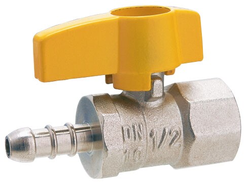 Ganda Mulut Kuningan Perempuan Screw Leakproof Gas Ball Valve