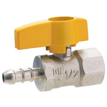 Double Mouth Brass Female Screw Leakproof Gas Ball Valve