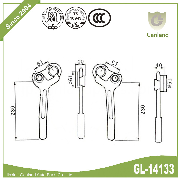 Dropside locks GL-14133Y5