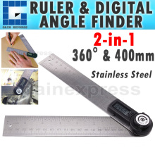 Digital 2in1 Angle Finder Meter Protractor Ruler 360° 400mm