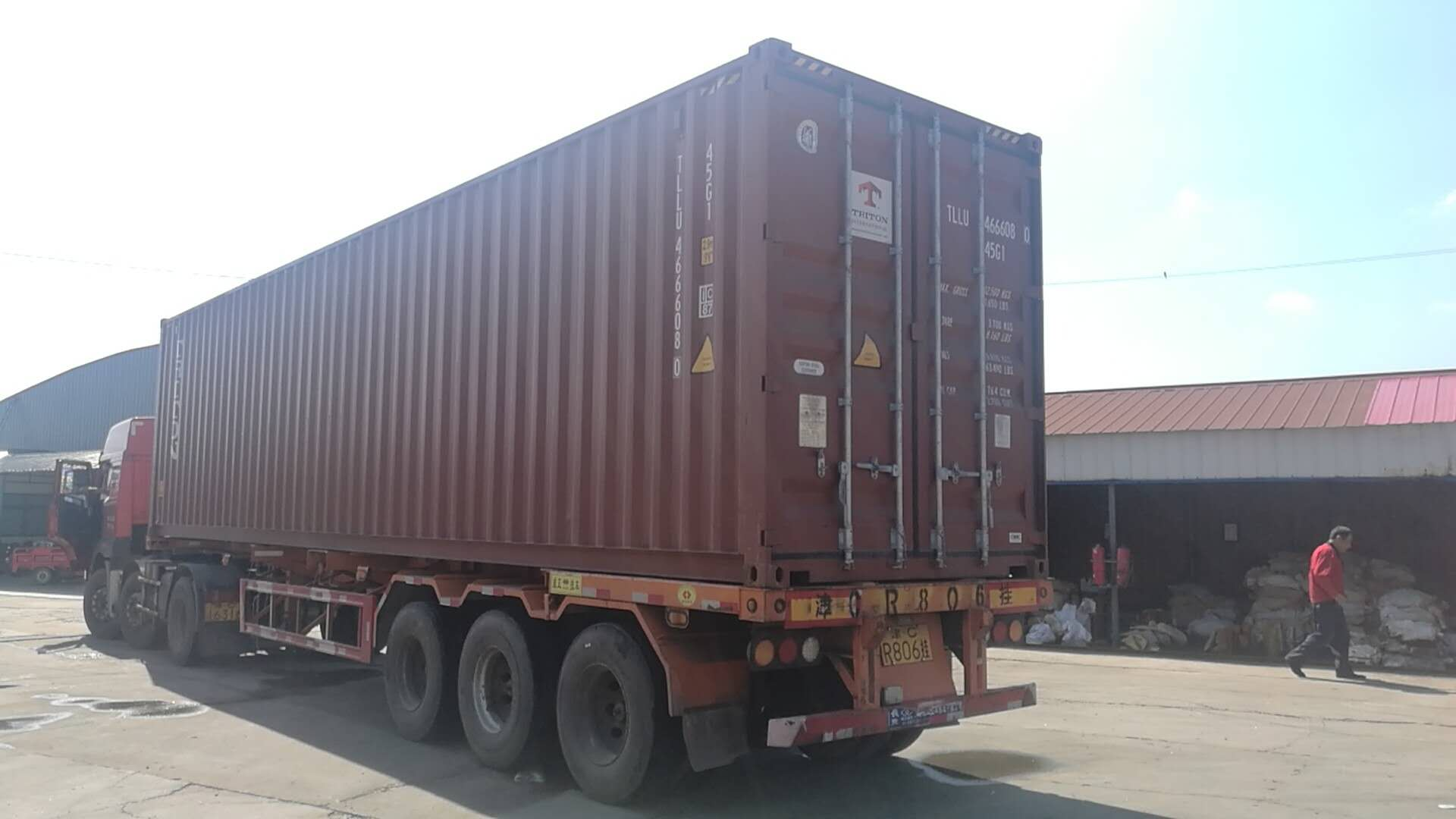 Concrete Pump Container Loading