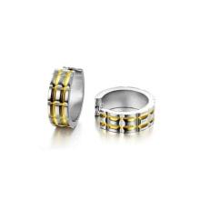 Круглые серьги из нержавеющей стали,ручной работы мода серьги