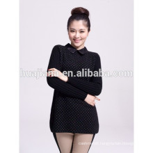 fashion lace collar cashmere knitting women's thick sweater