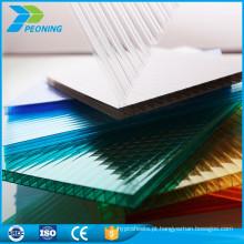 China bom fornecedor entrega rápida folha de policarbonato reforçada em estufa de 10mm