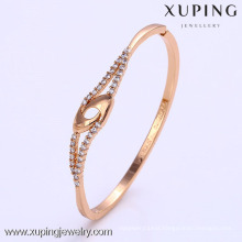 50797 Xuping dubai gold plated bangles designs, latest design 1 gram gold plated bangles