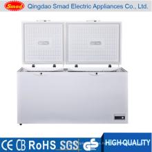 Fregadero doble de temperatura doble en el congelador del pecho