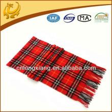 Bufanda roja al por mayor de la bufanda del cheque del falso del diseñador en el invierno