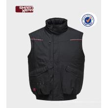 Chaleco de ropa de trabajo de construcción de uniformes de invierno para chaleco de trabajo de seguridad de hombres
