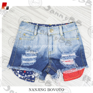 Unisex July 4th Bleached Ombre Denim Shorts