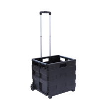 High Quality Portable Adjustable Handle Folding Shopping Cart With 2 Wheels