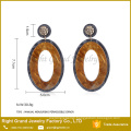 Designer Inspired Earrings Trendy Tanishq Earrings Price Drop Donut UV Acrylic Earrings For Woman Jewelry
