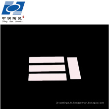 meilleure qualité isolation électrique 96% feuille de substrats en céramique d'alumine al2o3
