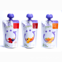 Baby Food Packaging Doypack Med No Choke Cap