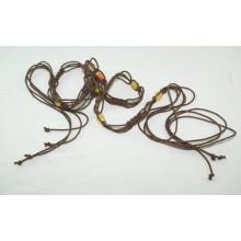 Мода Ручная одежда вощеный шнур плетеные ремни-KL0041