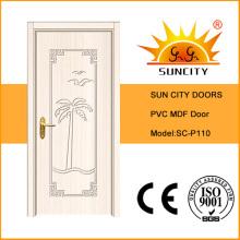 Swing Open PVC Interior Door Zhejiang Supplier (SC-P110)