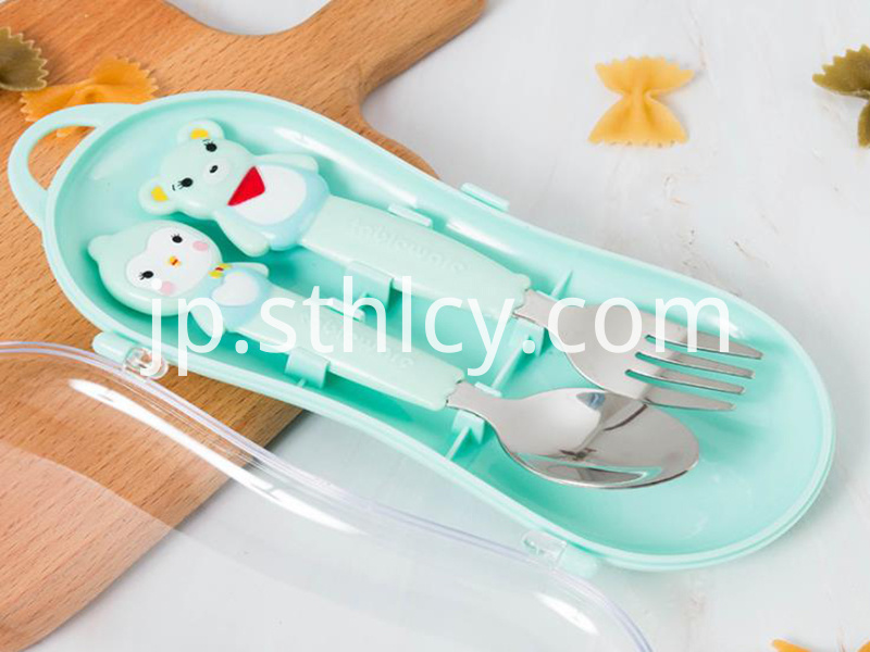 Food supplement austenitic fork spoon