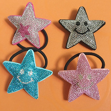 Strass multicolor in pelle sorriso stelle Starfish ornamenti per capelli