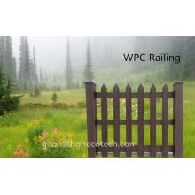 A madeira de madeira da grão gosta da cerca do pátio WPC do uso do jardim dos produtos da prova WPC da água