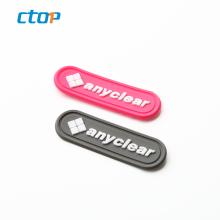 Designs custom brand names logo handbag soft embossed plastic silicone custom rubber label pvc patch bag tag