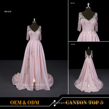 Alibaba evening dresses online store pink party evening gowns A line long frock for adults