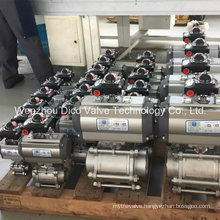 Pneumatic 3PC Thread Ball Valve with ISO 5211 Mounting Pad