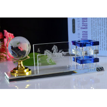 Regalos de oficina Crystal Pen Holder with Crystal Terrestrial Globe