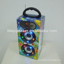 12inch 10W LED horse race lamp high power digital wood bluetooth speaker