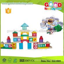EZ1010 88pcs Enlighten Toy Printed Wooden Color Blocks