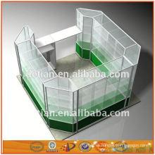 Los nuevos gabinetes de exhibición de aluminio y de vidrio del diseño del OEM de Shangai exhibidores cubren el estante de exhibición del estante