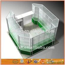 Xangai OEM novo design de alumínio e vidro expositores armários expositores stands rack prateleira de exposição