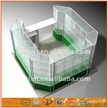 Шанхай OEM новый дизайн из алюминия и стекла, витрины стеллажи стойки полки стойки дисплей