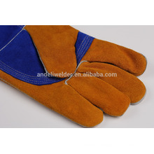 A3 47cm palm and thumb thicker welding gloves cow split leather welding gloves
