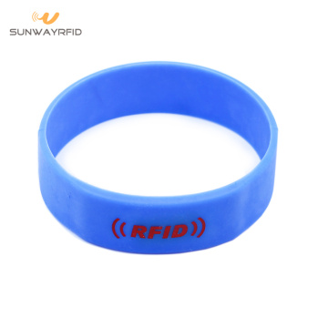 13.56MHZ Round Silicone RFID Wristbands