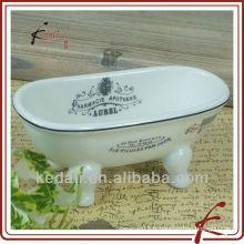 China Factory Céramique Porcelaine Mini Baignoire Savon Accessoires pour salle de bain