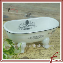China Factory Ceramic Porcelain mini Bathtub Soap Dish Bathroom Accessories