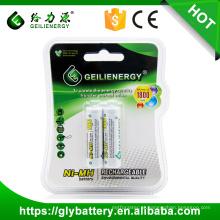 Bateria Recarregável de Geilienergy Ni-mh / Ni-cd AA Boa qualidade 1.2v 1800mah