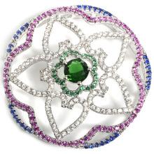 Мода CZ ювелирные изделия ожерелье Аксессуар выводы с мокро Pave