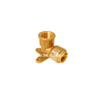 Brass Wall Plated Elbow Demountable Push Fit Fitting (IC-1022)