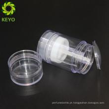Cosméticos torção até recipiente de desodorante torcer vara de gel de plástico para cuidados pessoais