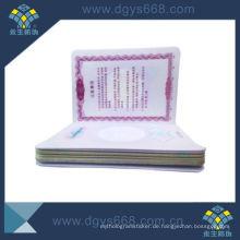 Intaglio Printing Mitgliedschaft Zertifikat Produzieren