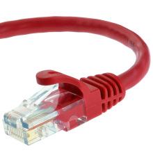 Cat5e UTP RJ45 Ethernet-кабель для патч-корда 15 футов в красном